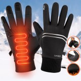 1 Pair Winter Waterproof Bicycle Gloves Touch Screen Windproof Ski Gloves For Winter Outdoor Sports Sonwboarding Cycling