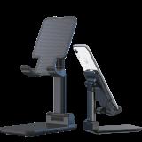 MECO Universal Foldable Multi-Angle Telescopic Height Adjustment Mobile Phone Desktop Holder Stand
