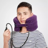 YUWEILL C-shape Cervical Neck Traction Device Spine Massage Travel Pillow Collar Brace Neck Stretcher Hammock Support for Neck Pain Relief Fatigue Relax