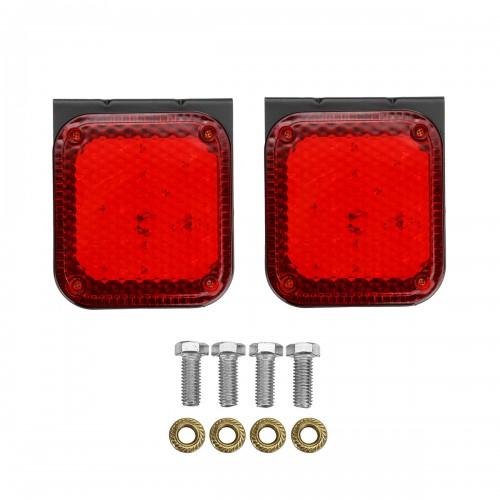 2PCS 24V 20LED Trailer Side Marker Lights Rear Clearence Flash Lamp Truck