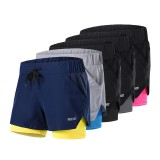 ARSUXEO Men's 2-in-1 Sports Running Shorts Quick-dry Breathable Soft Fitness Gym Yoga Cycling Short Pants