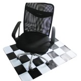 PVC Transparent Frosted Protective Pad Chair Wood Floor Anti Slip Rotating Chair Cushion Office Living Room Carpet Protection Supplies