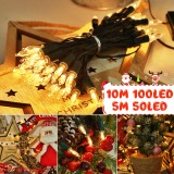 5M 10M Battery Powered 8 Modes LED Christmas Party Fairy Ball String Light for Garden Indoor Home Decor