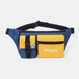 Men Polyester Patchwork Multi-carry Waterproof Casual Crossbody Bag Chest Bag Sling Bag