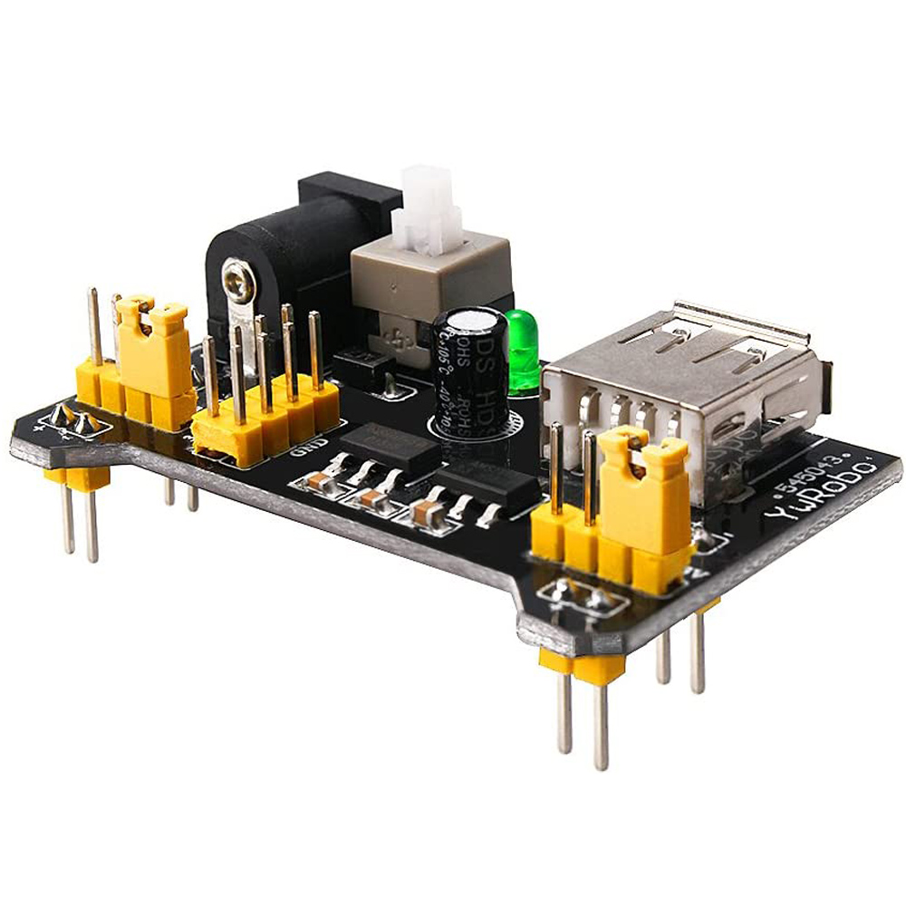 Aoqdqdqd Electronic Component Fun Kit with Power Module, 830 Junction Breadboard, Precision Potentiometer Resistor for Arduino, Raspberry Pi, STM32