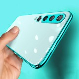 Bakeey for Xiaomi Mi10 Mi 10 Case 2 in 1 Plating Lens Protect Ultra-Thin Anti-Fingerprint Shockproof Transparent Soft TPU Protective Case