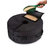 51x20cm Black Oxford Cloth Round Sandbag For Outdoor Tent Support Umbrella Sunshade Base Fixed Sandbag