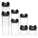 7-Piece Set Food Storage Container Sealed Lid Kitchen Canister Set Organiser