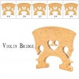 NAOMI 1PC Standard Maple Bridge 4/4 3/4 1/2 1/4 1/8 Size Fiddle Bridge Classical Bass Type Violin Bridge Wood