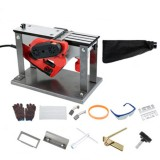 220V 1800W Electric Planer Small Household Woodworking Planer Woodworking Tool Planer W/ Flip Desktop Dust bag