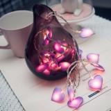 3m 20LED Blue/Purple/Pink Love Heart Wedding LED Fairy String Lights Lantern Romantic Wedding Event Party Garden Garland lighting