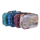 72 Holes Pencil Bag Multifunction Pencil Cases 36 Colors Pen Storage Bag Case Pen Makeup Brush for Student School Supplies