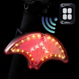 XANES Wireless Remote Control Smart Bicycle Tail Light USB Rechargeable LED Turn Signal Rear Lamp For MTB Electric Bike
