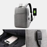 Men Oxford USB Charging Light Weight Large Capacity 15.6 Inch Laptop Bag Backpack