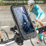 Bakeey Universal Multifunction 360 Free Rotation Magnetic Retractable Adjustment Motorcycle Phone Holder Stand Bike Holder Waterproof Mobile Phone Bracket