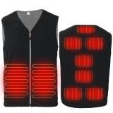 9 Heating Pads Electric USB Winter Heated Vest Men Women Heating Jacket Coat Warm Pad Intelligent Constant Temperature