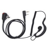 Walkie Talkie Earphone for Baofeng Radio With PTT LED Light Headset Microphone K Port Earpiece