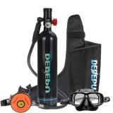 DEDEPU Scuba Diving Set 1L Diving Tank With Snorkelling Glasses+Storage Bag Underwater Mini Scuba Tank Accessories