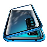 Bakeey for Huawei P40 Case 360 Magnetic Flip Touch Screen Double-Sided 9H Tempered Glass + Metal with Lens Protector Full Body Protective Case