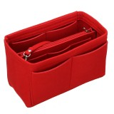 Cosmetic Bag Makeup Organizer Solid Color Insert Storage Bag with Zipper Toiletry Bag Storage Pouch Handbag Tote