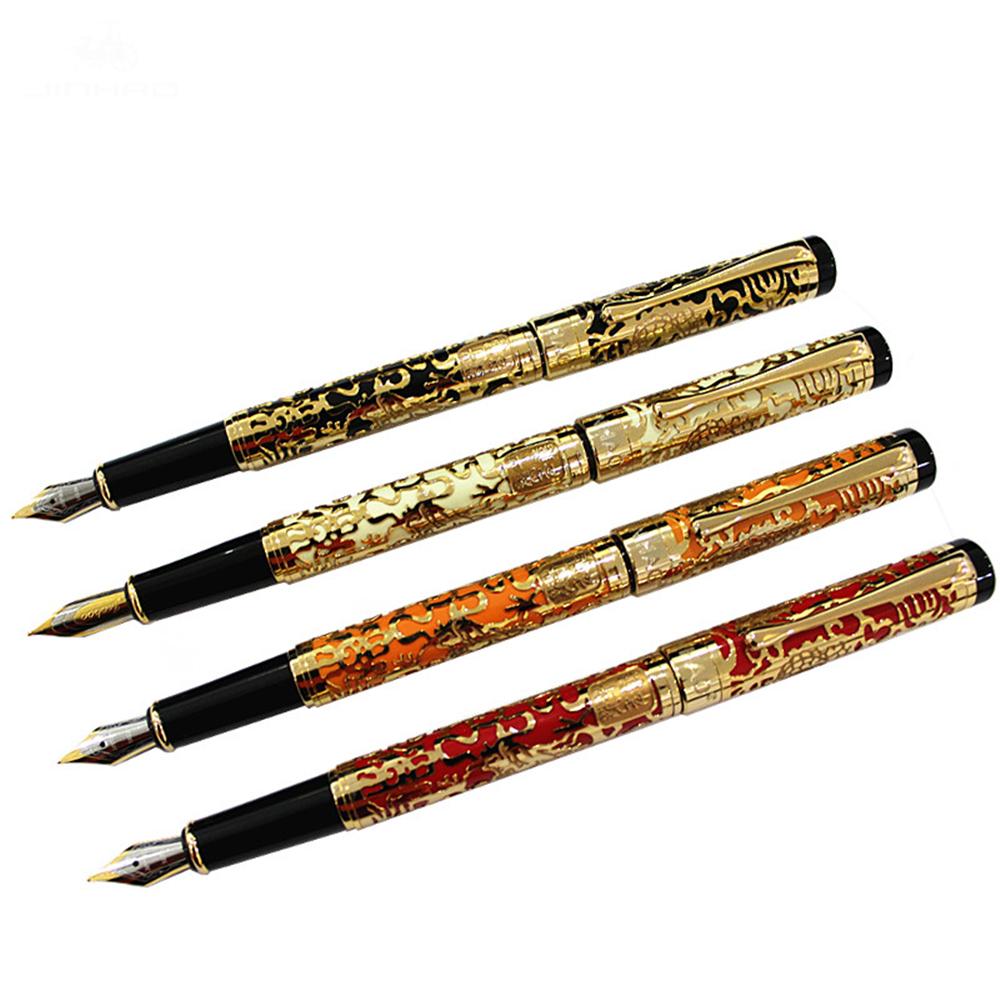 Jinhao 5000 Millennium Dragon Pen 0.5mm Nib Ink Pen Fountain Pen Luxury Metal Golden Nib For Office Writing