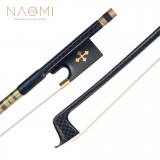 Naomi Advanced 4/4 Size Violin Bow Carbon Fiber Violin/Fiddle Bow Grid Carbon Fiber Stick Brass Accessoires Durable Use