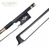 NAOMI Advanced Carbon Fiber Bow Violin/Fiddle Bow Grid Carbon Fiber Stick Ebony Frog Mongolia Horsehair Durable Use