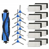 19pcs Replacements for Eufy RoboVac 11s RoboVac 30 Vacuum Cleaner Parts Accessories Main Brushes*1 Side Brushes*8 HEPA Filter*10