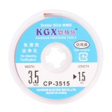 KGX MAGXIN Desoldering Braid Solder Remover Wiick 3.5mm 1.5M Wire Sucking Tin Absorption No-Clean Line for Mobiile Phone Repair Tool