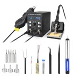 NEWACALOX 8786D 750W Digital 2 In 1 SMD Rework Soldering Station Repair Welding Soldering Iron Set PCB Desoldering Tool