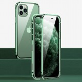 Bakeey For iPhone 12 Pro Max Case 360 Magnetic Flip Touch Screen Double-Sided 9H Tempered Glass + Metal Full Body Protective Case