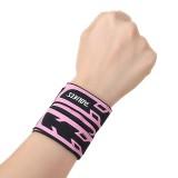 AOLIKES 1 Pcs Elastic Wrist Bandage Wrap Brace Breathable Thin Adjustable Wristband Sport Brace Hand Support Sport Fitness