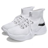 Men High Top Sock Sneakers Breathable Casua Shock Absorption Mesh Shoes Outdoor Jogging Running Shoes