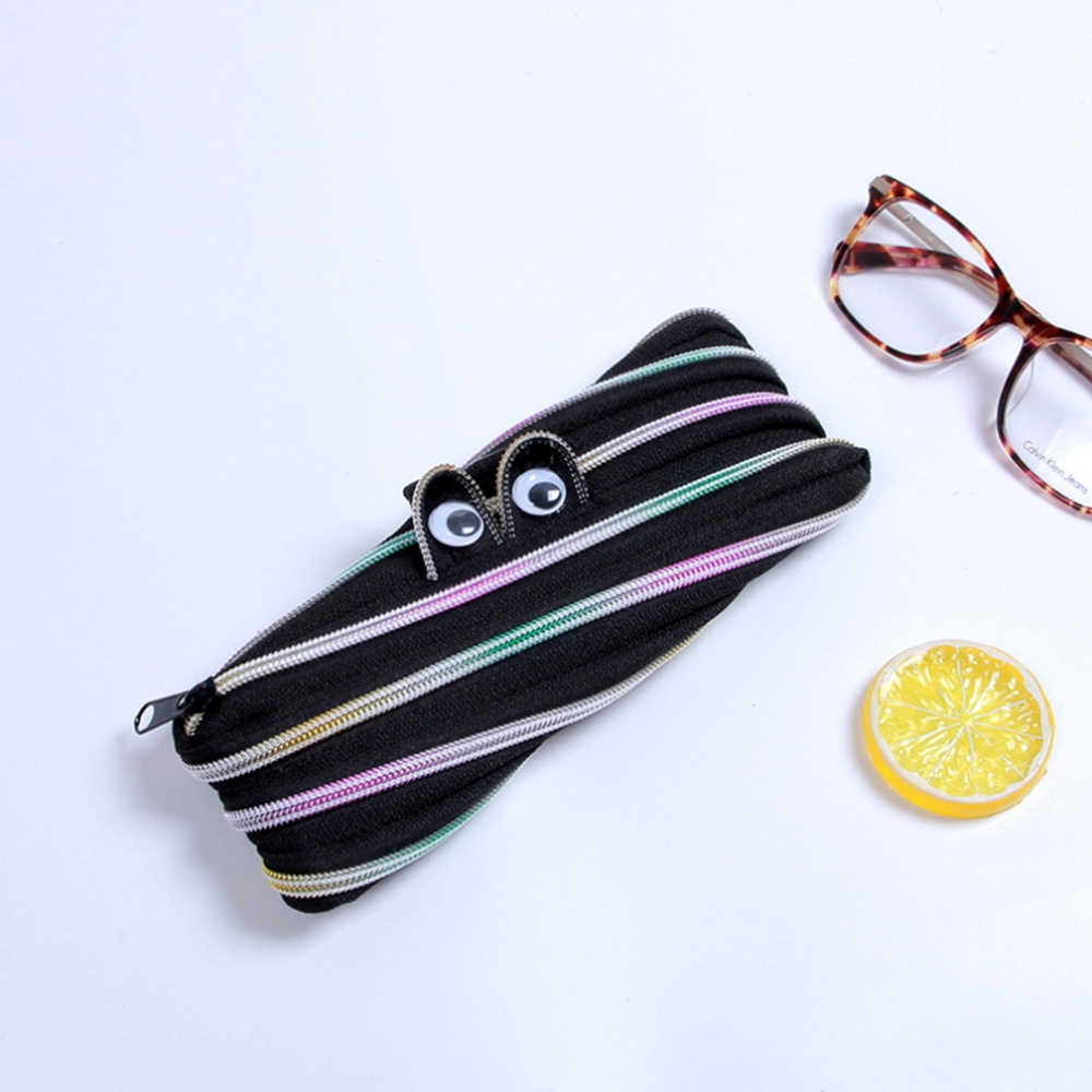 Student Pen Bag Cute Pencil Case with One Zipper Removable School Student Stationery Supplies Children Gift Pencil Bag
