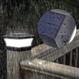 T-SUN LED Solar Power Garden Light Square Post Lights IP65 Waterproof Column Light for Outdoor Garden Courtyard Porch Wall Lamp
