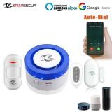 SMARSECUR WiFi Sound and Light Alarm Tuya Smart Life APP Control Light Sound Siren For Alarm System Work with Amazon Alexa Google Home IFTTT
