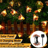 5M/6.5M/9.5M/12M/22M LED Solar Powered Bee String Light Outdoor Party Fairy Lamp Patio Garden Yard Decor