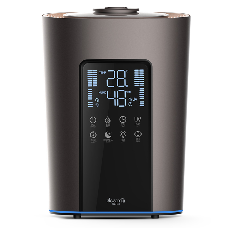 Deerma DEM-F850S Ultrasonic Humidifier UV-C Sterilization 5L Water Capacity 300mL/h 8 Functions 3 Preset Modes 4-layer PurificationTouch Control Low Noise with Essential Oil Box