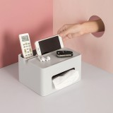 Bakeey Multifunctional Dressing Table Desktop Tissue Paper Box Articles Classification Organizer Box with Phone Holder Home Office Bedroom Bathroom Kitchen Use