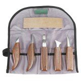 8Pcs Wood Carving Tools Set Hook Carving Blade Detail Wood Blade Whittling Blade Oblique Blade Trimming for Spoon Bowl Cup or General Chip Carving Kit for Beginners
