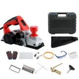 220V 1800W Electric Planer Small Household Portable Desktop Woodworking Planer Woodworking Tool Planer W/ Dust bag