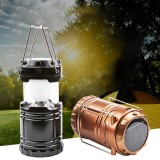 IPRee G85 Outdoor Solar Lantern 6 LED USB Rechargeable Telescopic Camping Light Super Bright Emergency Power Bank Flashlight Hiking Travel