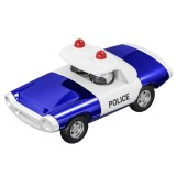 Alloy Police Pull Back Diecast Car Model Toy for Gift Collection Home Decoration