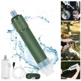 Outdoor Water Filter Straw Portable Filtration System 2-Stage Water Purifier Survival Gear for Camping Hiking Climbing