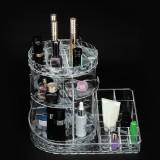 360 Rotating Acrylic Makeup Organizer Storage Cosmetic Holder Stand Case Home Desktop Storage Rack Supplies