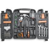 VonHaus 53pc Household Tools Set Tools Kit Hardwearing Steel Feature Soft-grip Moulded Handles Tools Kit