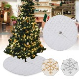 90/120cm Christmas Tree Skirt Tree Skirt Mat Under The Tree Christmas Decorations for Home Snowflake 2020 Christmas Tree Foot Carpet