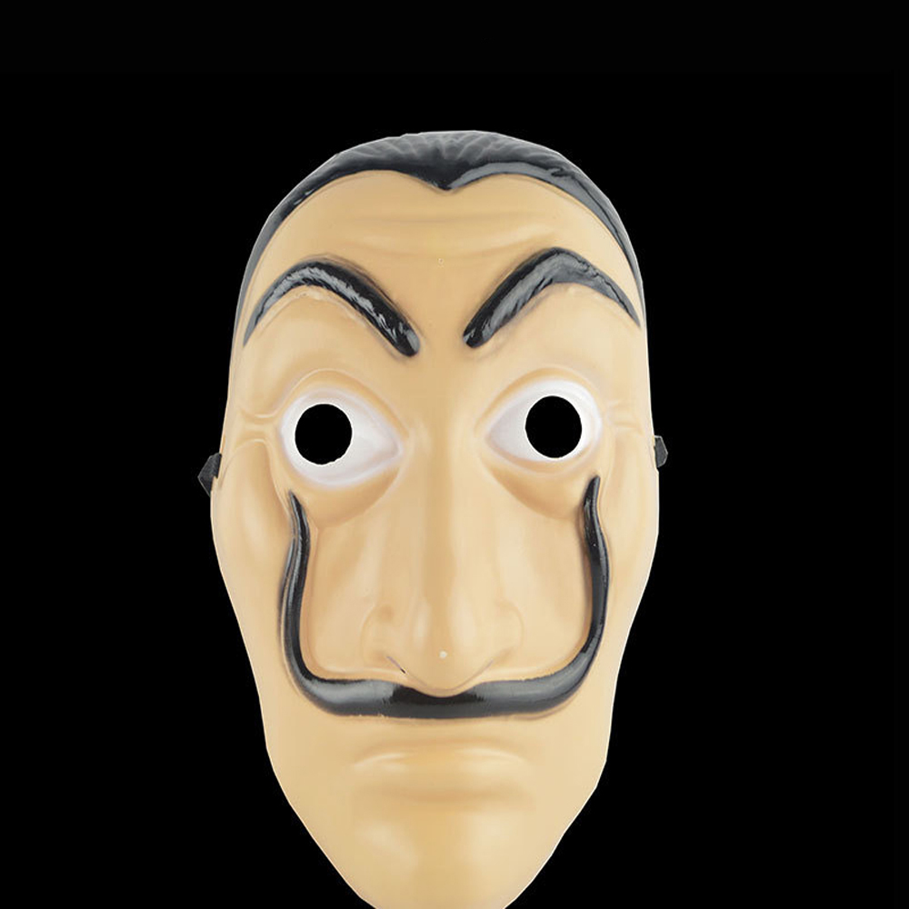 Money Heist The House of Paper La Casa De Papel Mask for Men Women Salvador Dali Mask Halloween Carnival Christmas Dali Mask