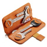 NewBring Small Card Holder Genuine Leather Key holder Cash Cardholder Wallet Money Clip Business Credit Cardholder