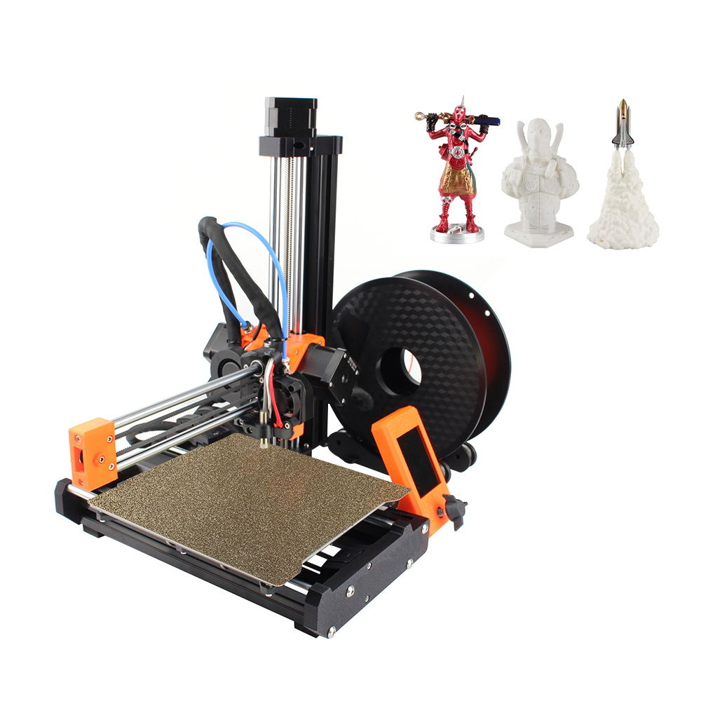 Clone Prusa Mini 3D Printer DIY Complete Kit 180*180*180mm Print Size 3.2inch Color Screen MW Power Supply